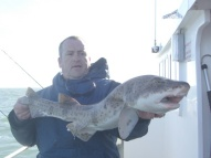 Bull Huss fishing in the Bristol Channel