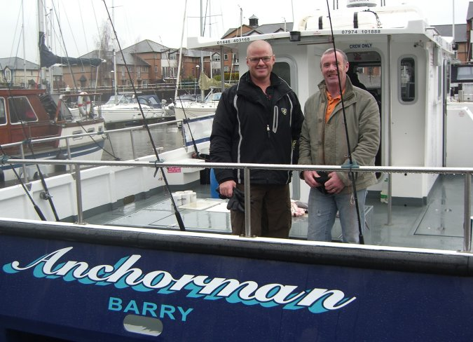 Celebrity chef Heston Blumenthal aboard Anchorman Fishing Charters