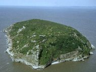 Steepholm Island in the Bristol Channel